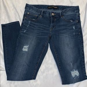 EXPRESS Distressed Legging Jeans